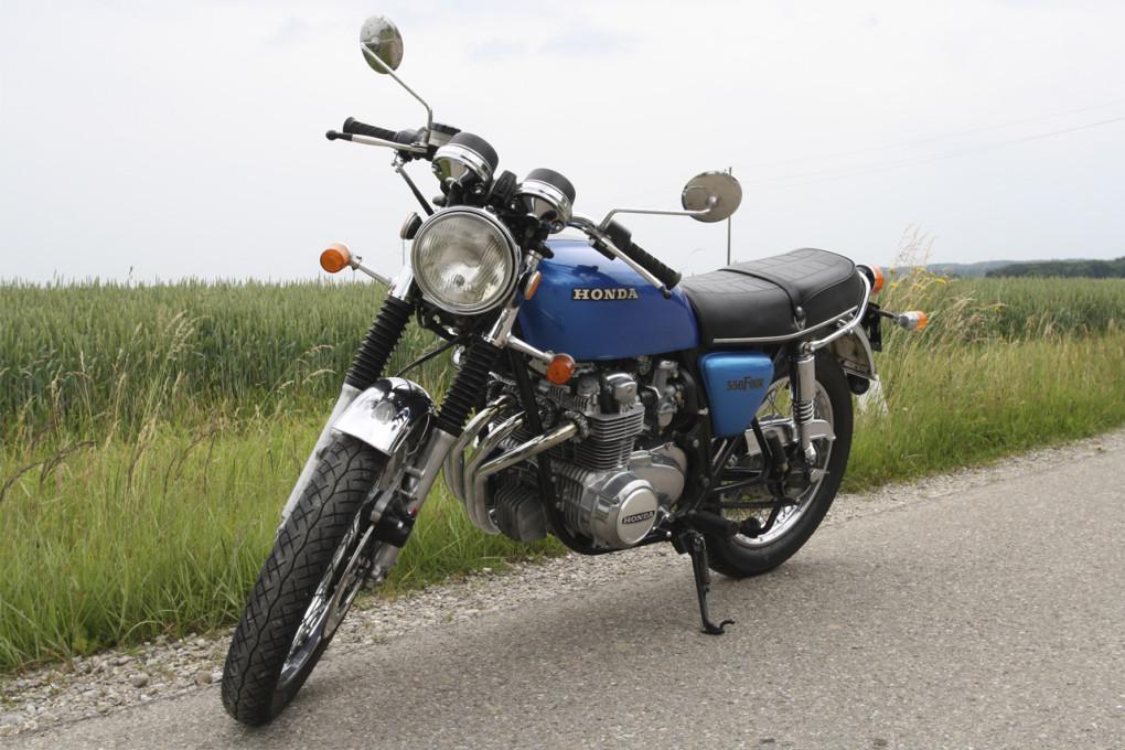 Honda CB550, Baujahr 1976, konservatorisch restauriert