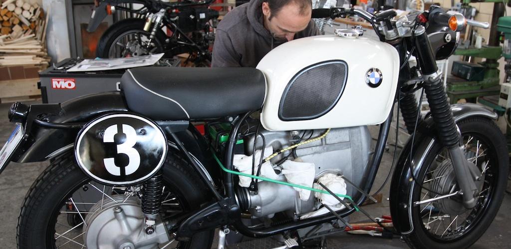 BMW R60/5, in Arbeit